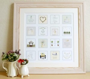 Squares personalised bespoke picture framed